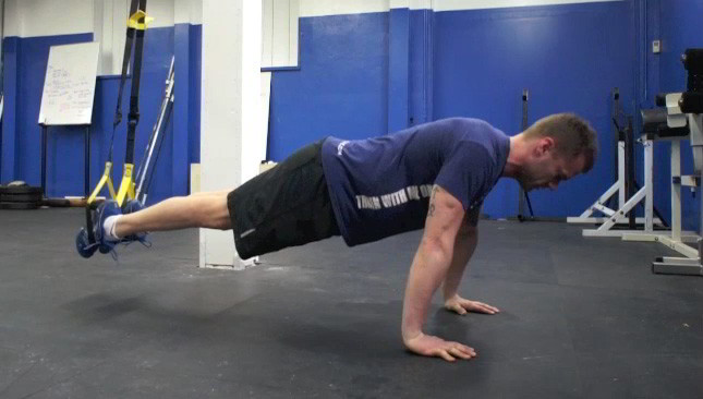 trx suspended push-ups - step 1