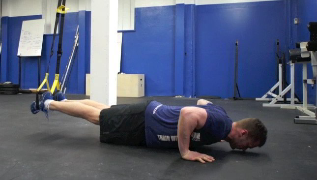 trx suspended push-ups - step 2
