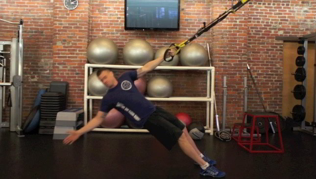 trx t-bar row - step 1