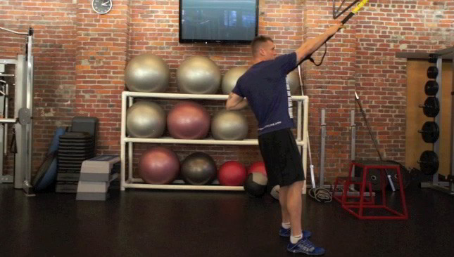 Picture of a male doing TRX T-Bar Row Exercise