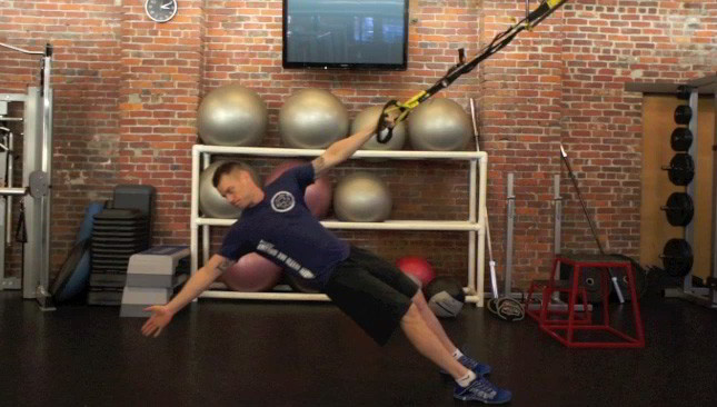 trx t-bar row - step 3