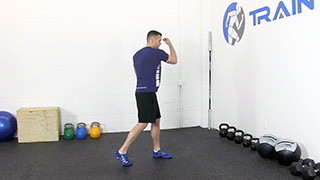 Picture of a male doing Uppercuts Exercise