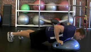 weighted bar push up - step 2