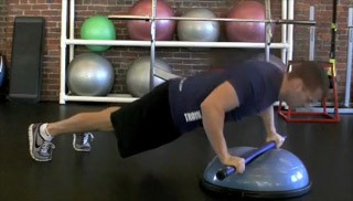 weighted bar push up - step 3