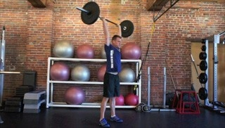 Picture of the burpee/push press attack