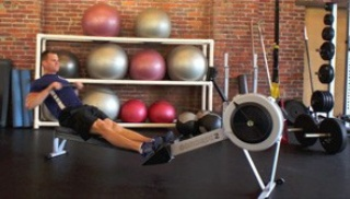 Picture of the burpee/row conditioning